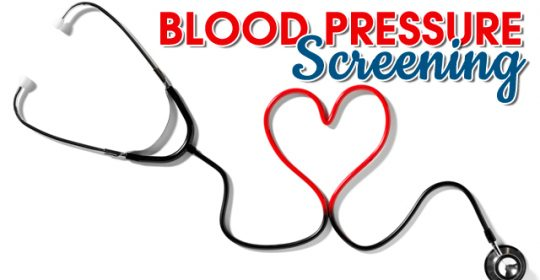 BLOOD PRESSURE SCREENING