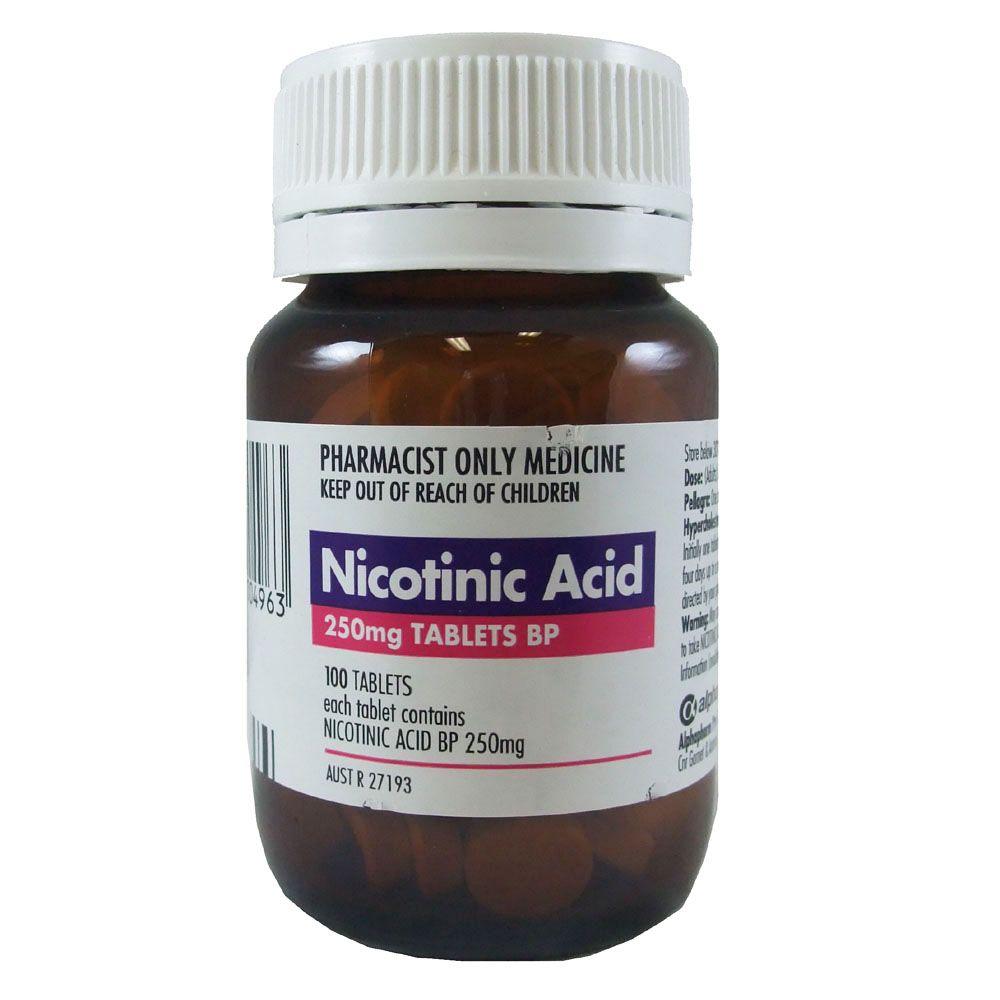 Nicotinic Acid 250mg 100